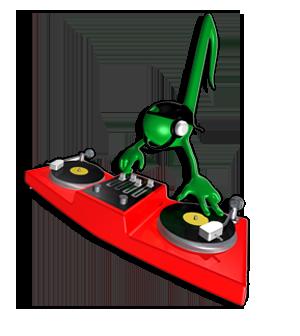 DJ leverer musik til festen